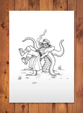 Dave Blame med blæksprutten.